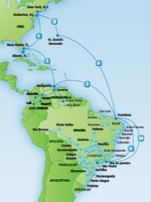 GlobeNet network map