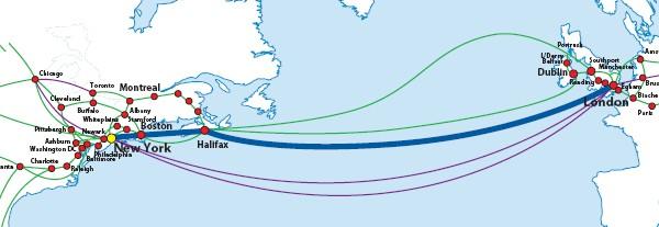 Hibernia Atlantic Project Express Map