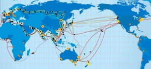 Telstra Global network map