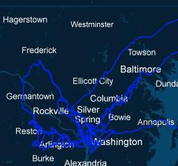 Sidera DC Metro & Baltimore Map