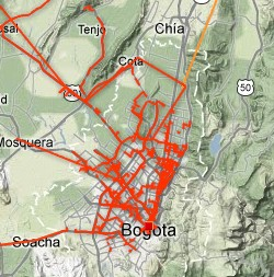 Level 3 Bogota Network Map