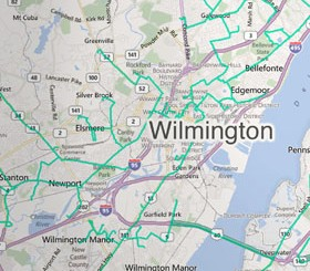 Fibertech Delaware network map