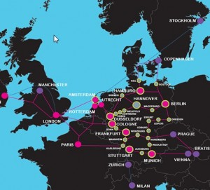 euNetworks map