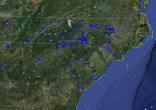DukeNet network map
