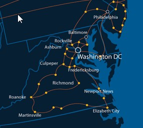 Lightower Virginia Network Map