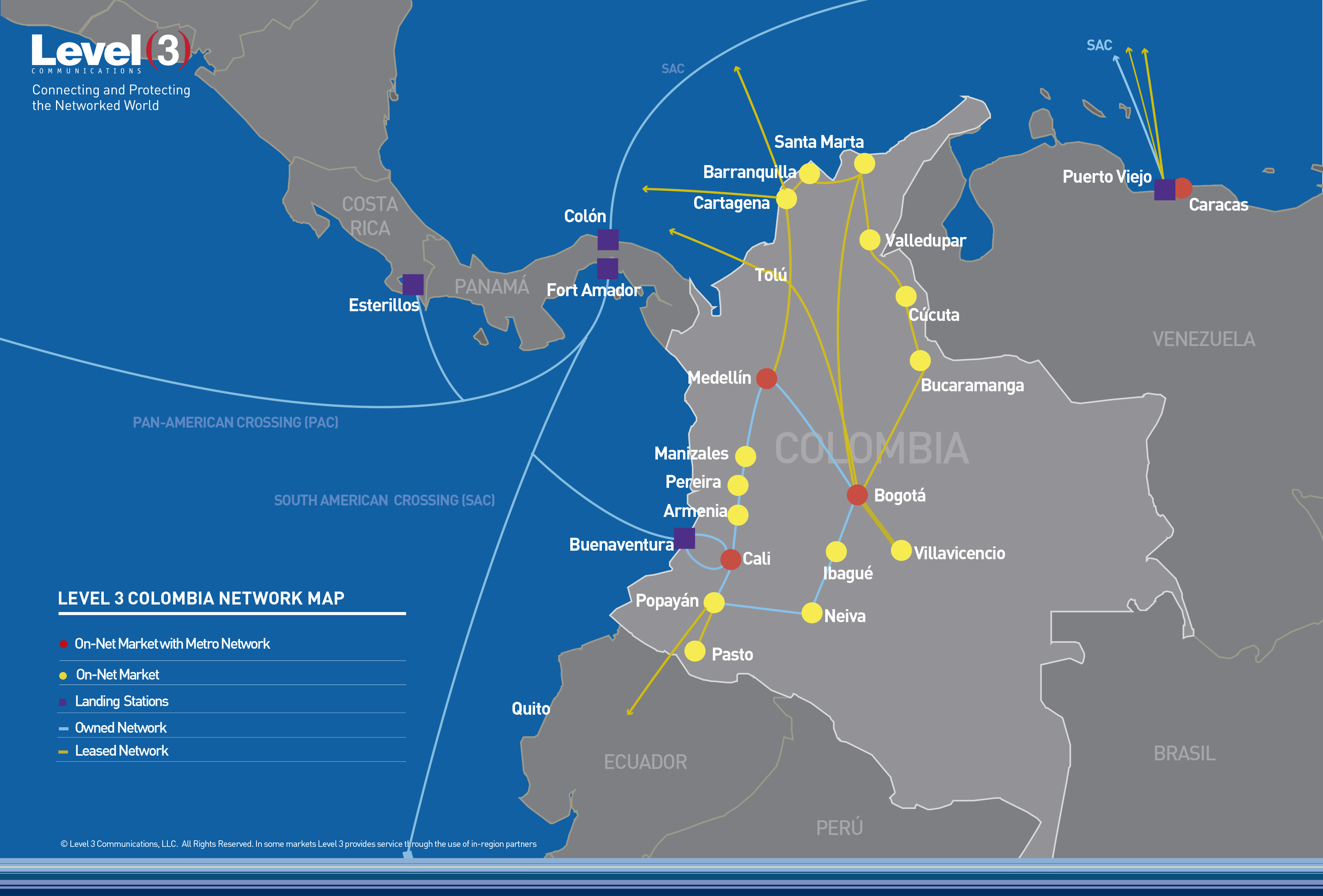 level 3 colombia network map