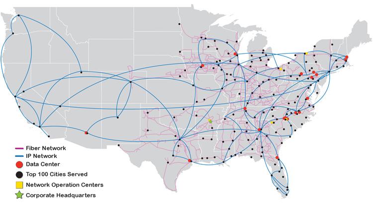 Unified WindstreamPAETEC Coverage Map Telecom Ramblings - Verizon network map